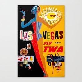 Lady Las Vegas Canvas Print