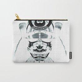 Samurai - Pen & Ink Stippling Carry-All Pouch