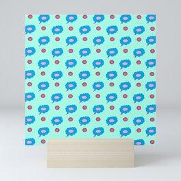 Think bubble sequence  Mini Art Print