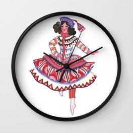 Whimsical Costume. Theater. Circus. Portrait. Dance Wall Clock