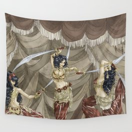Midnight Circus: Sword Dancers Wall Tapestry
