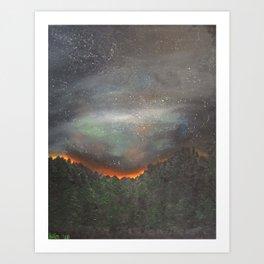 nightfall over forest Art Print