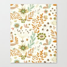 Little Creme Garden Flowers Canvas Print