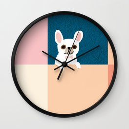 Little_French_Bulldog_Love_Minimalism_001 Wall Clock