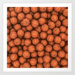 Basketballs Art Print