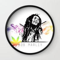 marley Wall Clocks featuring Marley Stencil Work by L & T Designs