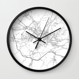 Minimal City Maps - Map Of Florence, Italy. Wall Clock