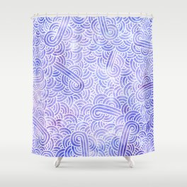 Lavender and white swirls doodles Shower Curtain