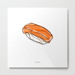 Sake Sushi Metal Print