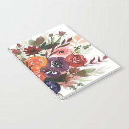 Country Fall Watercolor Bouquet Notebook