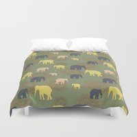 giants Duvet Covers featuring The forest giants by Preethiprabhu