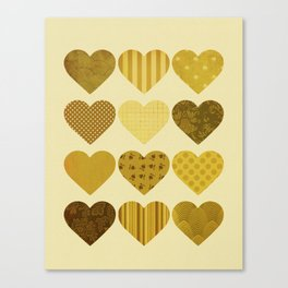 Chocolate Hearts Canvas Print