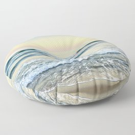 Serenity sea. Vintage. Square format Floor Pillow