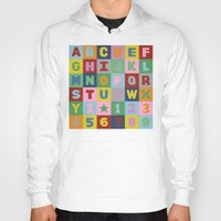 alphabet Hoodies featuring Alphabet by Project M