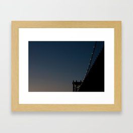 Blue Lit Framed Art Print