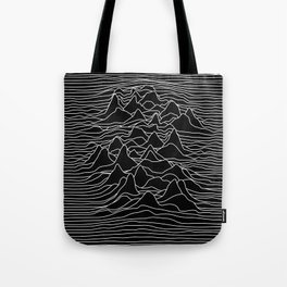 Black and white illustration - sound wave graphic Tote Bag
