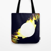millenium falcon Tote Bags featuring falcon by donphil