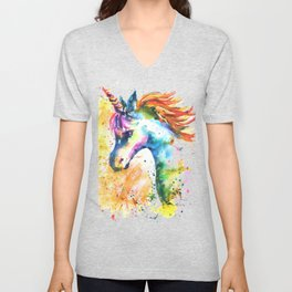 Unicorn Splash Unisex V-Neck