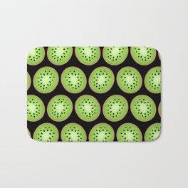 Kiwi Pattern  |  Black Background Bath Mat