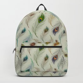Colorful Array Of Peacock Feathers Backpack
