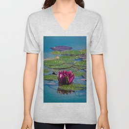 Two water lilies Unisex V-Neck