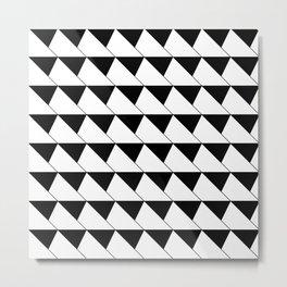 Black And White Box Pattern Metal Print