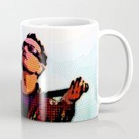 u2 Mugs featuring U2 / Bono 2 by JR van Kampen