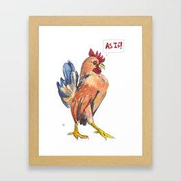 """""""As if!"""" Framed Art Print"""