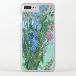 Lisa's Bluebell Clear iPhone Case