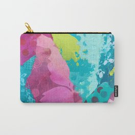 Tidal Pool II Mixed Media Collage Carry-All Pouch