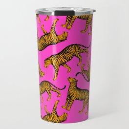 Tigers (Magenta and Marigold) Travel Mug