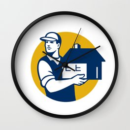 Mover Handling House Circle Retro Wall Clock