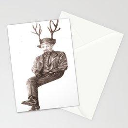 Dapper Deer Man Stationery Cards