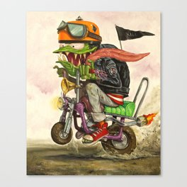 Minibike Weirddoh Canvas Print