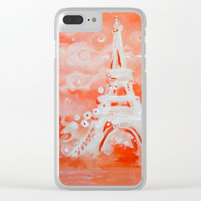 Paris Pink Clear iPhone Case