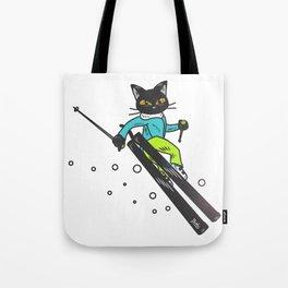 Ski action Tote Bag