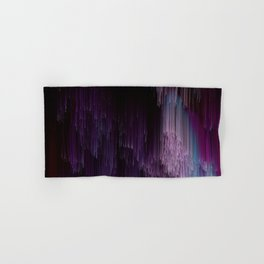 Darkness Glitches Out - Abstract Pixel Art Hand & Bath Towel