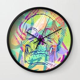 Oh Hell Sherbert Skull Wall Clock