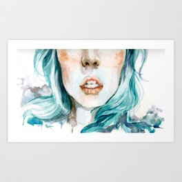 Softening Art Print