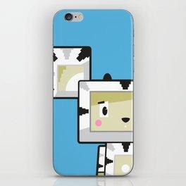 Cute Cartoon Blockimals Zebra iPhone Skin