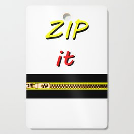 Zip it Black Yellow Red jGibney The MUSEUM Gifts Cutting Board