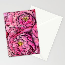 Peonies three pink Stationery Cards