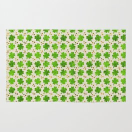 Irish Shamrock Four-leaf clover pattern Rug