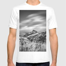 Trevenque Into The Fog White Mens Fitted Tee MEDIUM
