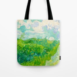 Field with Green Wheat 1890 Oil Painting By Vincent Van Gogh Tote Bag
