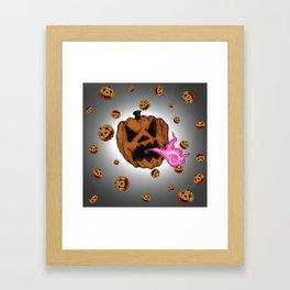 Soul Eater Jack o'lantern . Halloween Pumpkin Framed Art Print
