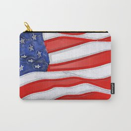 Fancy Flag:  USA 1 Carry-All Pouch