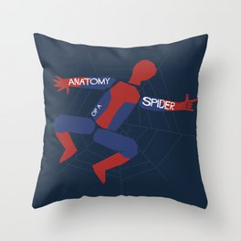 Anatomy of a Spider Throw Pillow