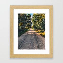 Road of summer radiance Framed Art Print