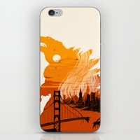 godzilla iPhone & iPod Skins featuring Godzilla  by tim weakland